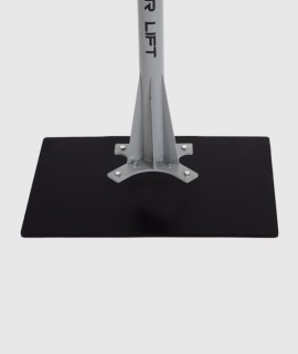 Base rectangular plana